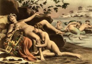 Safo de Mitilene, pintura de Édouard-Henri Avril que muestra sexo oral entre mujeres