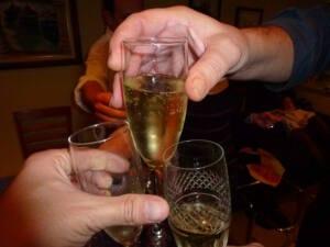 Brindis con champán