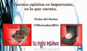 Sorteo de Tu Caja Íntima para el 17 de Diciembre de 2014