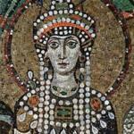 Retrato de la emperatriz Teodora en un mosaico
