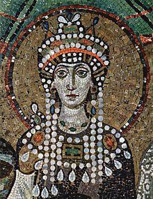 La emperatriz Teodora en un mosaico