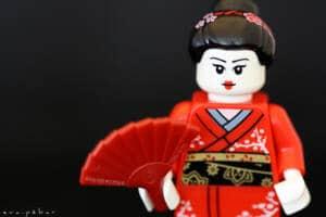 Geisha de Lego