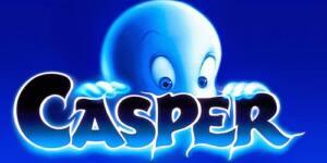Portada de la película Casper: dibujo de un fantasma asomándose por encima de su nombre