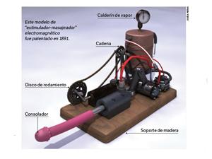 Reconstrucción en 3D del vibrador a vapor