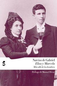 Portada del libro Elisa y Marcela de Narciso de Gabriel, con la foto del día de la boda de ambas