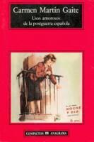 """Portada de """"Usos amorosos de la posguerra española"""" de Carmen Martín Gaite"""