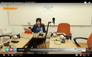 Captura de youtube del episodio 1 de Maryasexora en WPRA, titulado: Presentación y Primera Vez