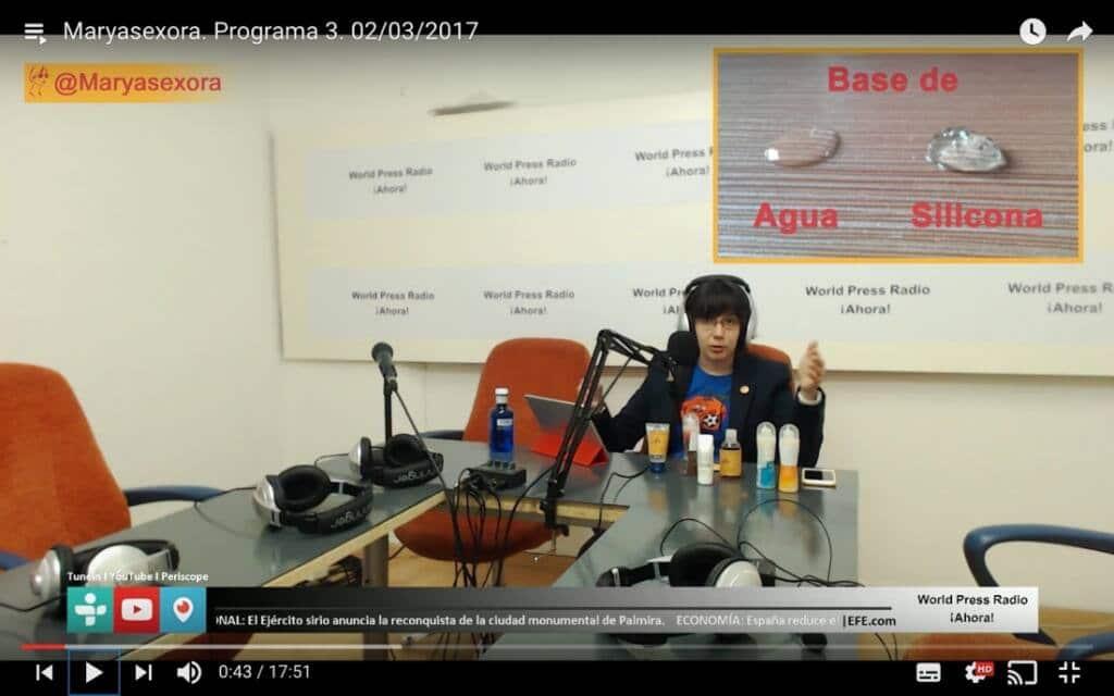 Captura de youtube del episodio 3 de Maryasexora en WPRA, titulado: Lubricanes