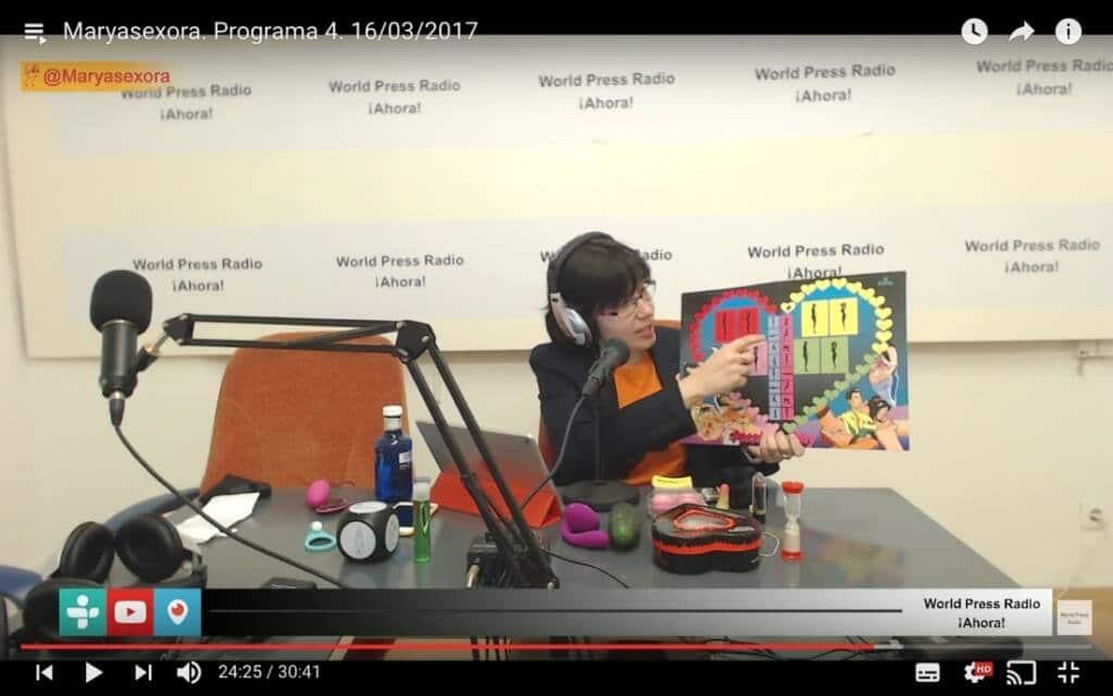 Captura de youtube del episodio 4 de Maryasexora en WPRA, titulado: Juguetes para Parejas