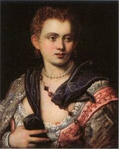 Retrato de Verónica Franco donde se muestra parte del pezón izquierdo