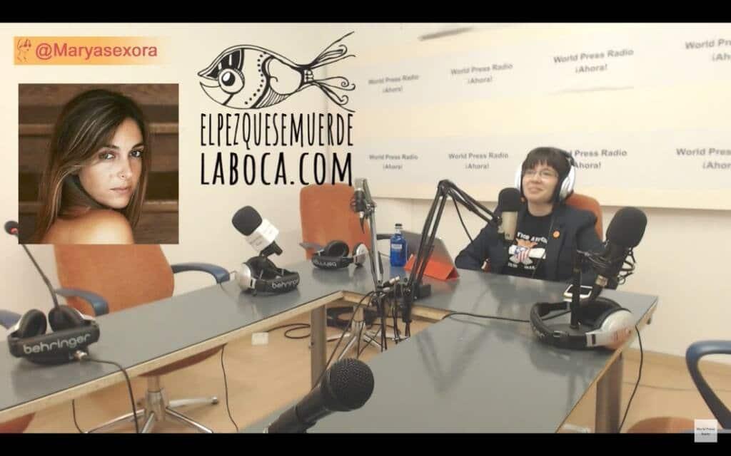 Captura de youtube del episodio 8 de Maryasexora en WPRA, titulado: Masterclass sobre Tinder con El Pez que se Muerde la Boca