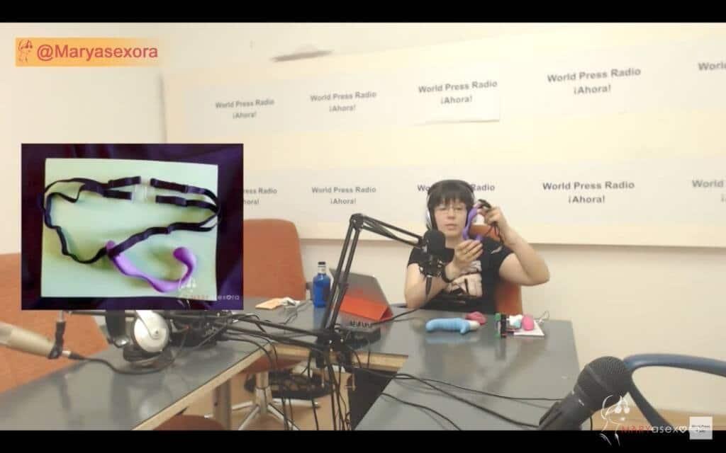 Captura de youtube del episodio 9 de Maryasexora en WPRA, titulado: Masterclass sobre Vibradores