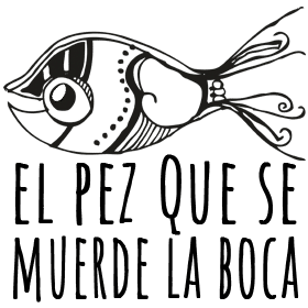 Logotipo del blog: El pez que se muerde la boca.