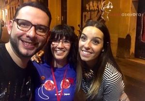 Selfie con los dos organizadores del evento. A la izquierda Ubal, en el centro yo y a la derecha Gemma