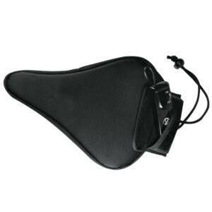 Sillín de bicicleta negro con vibrador