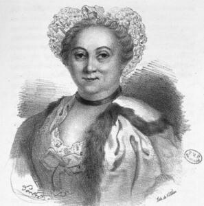 Litografía de Angélique du Coudray.