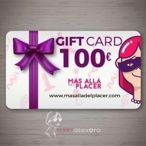 Tarjeta regalo de 100€ de la tienda online Más Allá del Placer