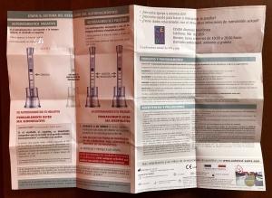 Instrucciones cara B del test de autodiagnóstico del VIH con los dos posibles resultados de la prueba