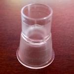 Soporte de plástico para colocar el dispositivo