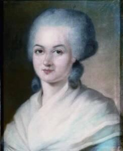 Retrato en lienzo de Marie Olympe de Gouges