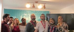 Organizadores y parte de los patrocinadores del Sexbloggers Meeting 2018.
