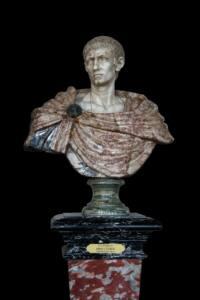 Busto de mármol del emperador Diocleciano.