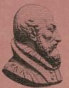 Busto donde se muestra el perfil derecho de Francisco Díaz de Alcalá.