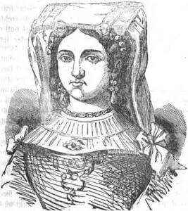 Grabado en negro del retrato de Marozia.