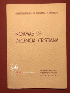 Portada del libreto de Normas de decencia cristiana.