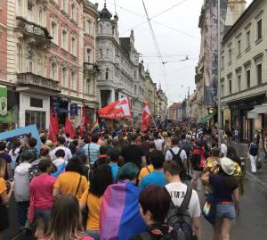 Marcha de la gente en Orgullo LGTBI en Graz