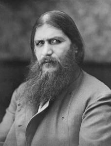 Foto en blanco y negro de Grigori Rasputín.