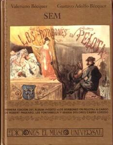 Portada del libro los Borbones en pelota atribuido a Gustavo Adolfo Béquer.